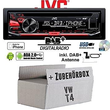 VW Bus T4 DAB+ Digitalradio Antenne JVC KD-DB67 DAB+ USB Autoradio inkl Einbauset
