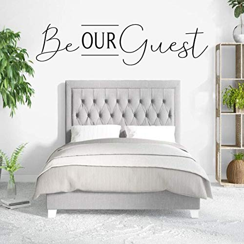 - Be Our Guest Wall Decor for Decorating Home Guest Bedroom, Hotel, Bed and Breakfast