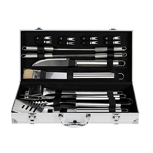 Zehui Grilling BBQ Utensils with Storage Case Set of 18 PCS Stainless Steel Barbecue Tool Set by Zehui (Image #3)
