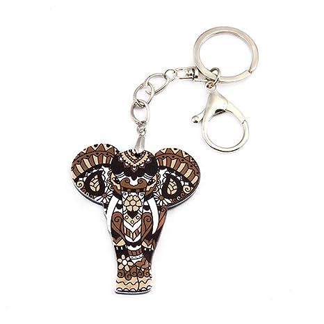 JUNGEN Llavero con Colgante Elefante Creativo Llavero para ...
