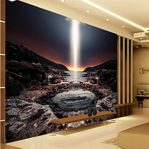 150cmX105cm Large custom wallpapers home decoration background seaside sky volcanic bath bathroom 3d wall art murals foto tapeten,150cmX105cm