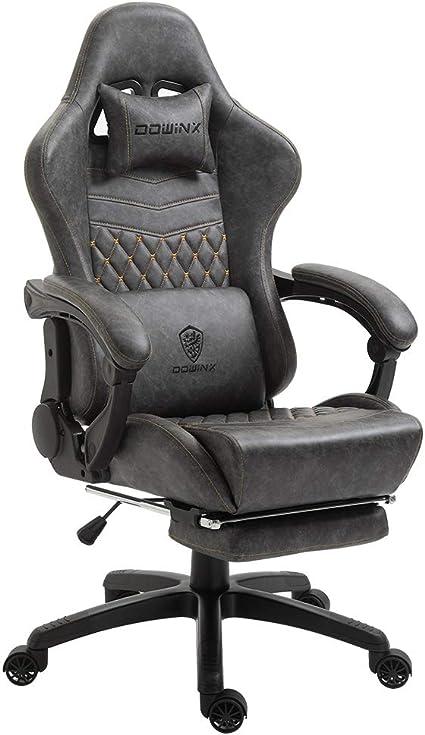 Bureaustoel Met Lendesteun.Dowinx Gaming Stoel Bureaustoel Pc Stoel Met Massage Lendensteun