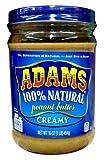Adams Natural Creamy Peanut Butter, 16 oz (2 Pack)