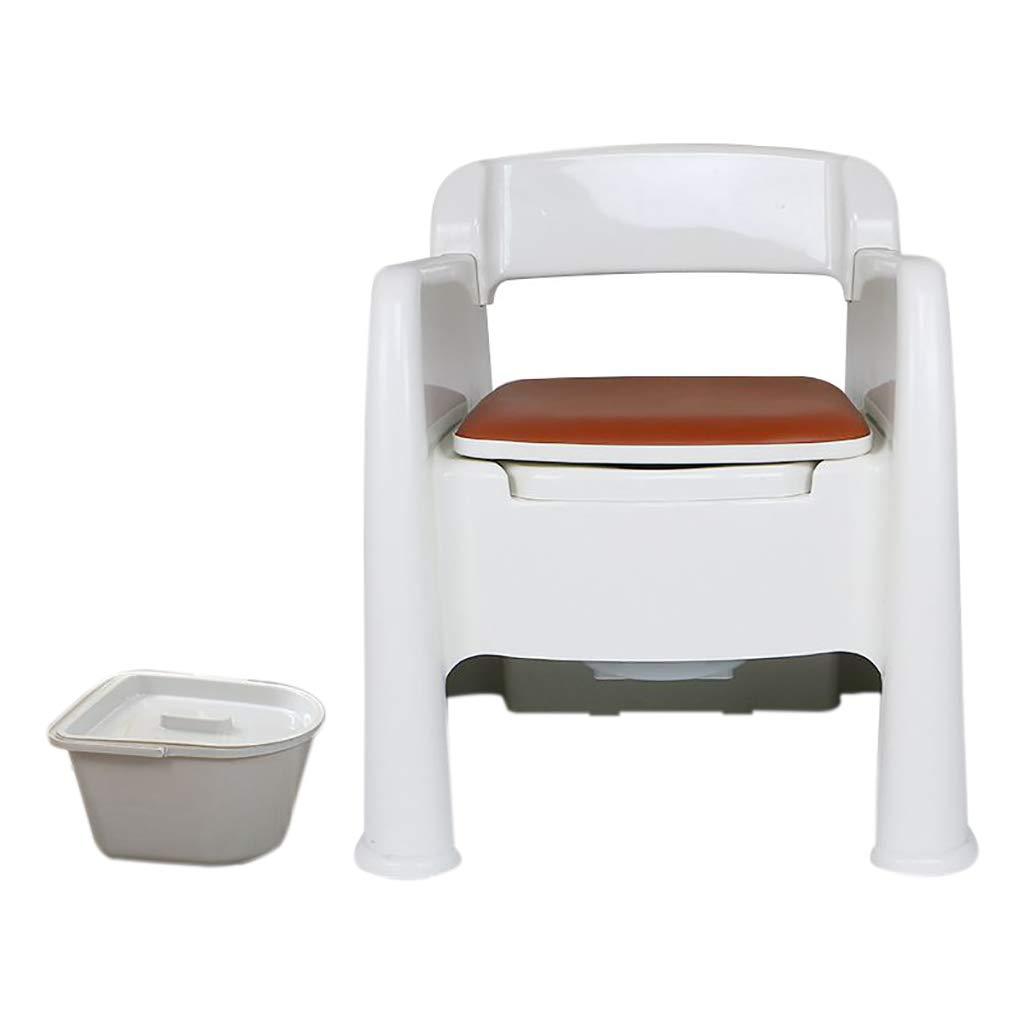 妊娠中の女性の高齢者トイレ肘掛けトイレ脱臭剤付き家庭用ポータブルシングルソファ椅子ノンスリップベース両側に収納ボックス付 B07JK1LNZ6 Double barrel  Double barrel