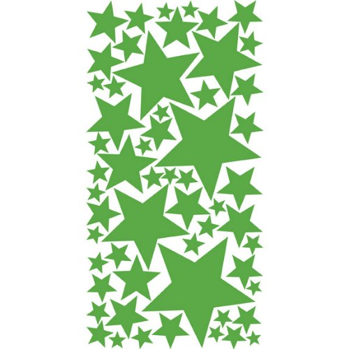 Colorful Stars Peel & Stick Wall Stickers / Decals / Appliques, Lime Tree Green
