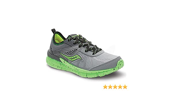 Zapatillas Running para niño Gris/Verde Talla 7US: Amazon.es ...