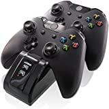 Nyko Dual Charge Base High Speed Docking/Charging Station for Xbox One/Xbox One S Controllers with Two Super Fast Rechargeable Battery Packs