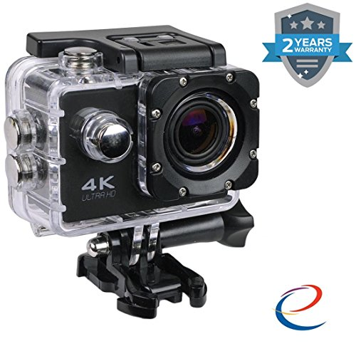 Wonderford Energic WiFi 4K Waterproof Sports Action Camera  Assorted Colour