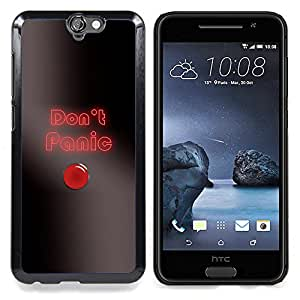 """Qstar Arte & diseño plástico duro Fundas Cover Cubre Hard Case Cover para HTC One A9 (Do not Panic Button"""")"""