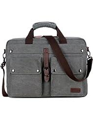 BAOSHA BC-07 17inch Canvas Laptop Computer Bag Messenger Bag Multicompartment Briefcase