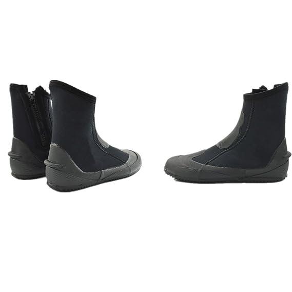 logas 5MM Neopren vulkanisierte Tauchen Hohe Schuhe Anti-Rutsch weich und elastisch 5kbAEi