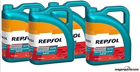 Aceite motor REPSOL Élite Long Life 50700/50400 5W-30 20 LITROS (4x5