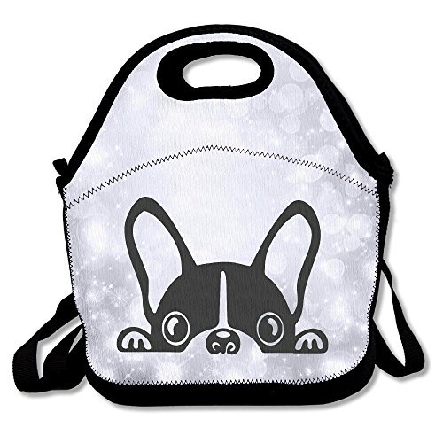 French Bulldog Lunch Box Bag For Kids And Adult,lunch Tote Lunch Holder With Adjustable Strap For Men Women Boys Girls,This Design For Portable, Oblique Cross,double Shoulder
