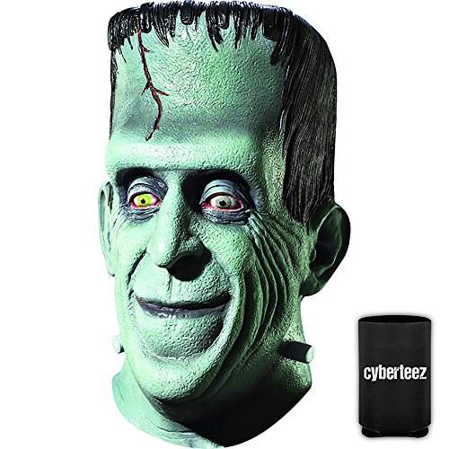 Herman Munster Mask (Cyberteez Herman Munster Men's Overhead Latex Costume Mask + Coolie)