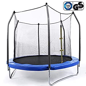Ziema Outdoor Trampolines, 15 14 12 FT TUV Approved Trampoline with Enclosure Net (US Stock) (12 ft Blue)