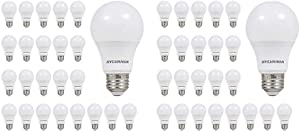 Sylvania A19 LED Light Bulb, 60W Equivalent, 24 Soft White Bulbs and 24 Daylight Bulbs (48 Bulbs Total)