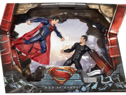 2013 SDCC Mattel Exclusive Superman vs. General Zod Movie Masters (Mass Effect 1 Best Choices)
