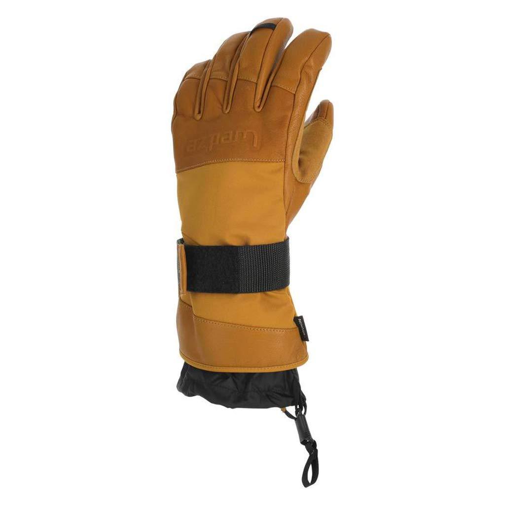 HU Sporthandschuhe Reiten Ski Wandern Wasserdichte, Winddichte Punkte für warme Lederhandschuhe