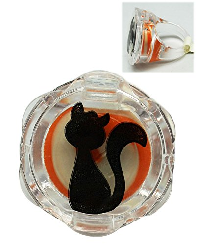 (Orange Scented/Flavored Plastic Cat Ring Lip Gloss - By Ganz)