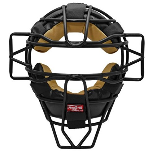 Frame Umpires Face Mask (Rawlings LWMX Lightweight Face Mask (Black))