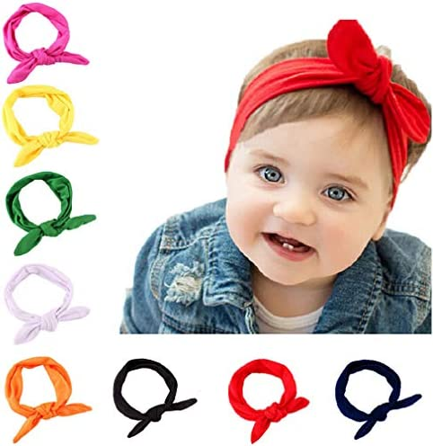 Elle Collection Tie-Knot Headband 18\u201d Knotted Headband Headbands for Babies Gingham baby bow hand Tied Pigtails Head Wraps Babies