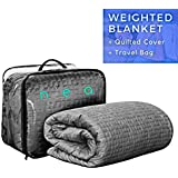 NEA Weighted Blanket | 15lbs 60x80 | Adults, children, elderly | Gravity Cooling Design | Includes PREMIUM QUILTED COVER | Improve sleep, mood, nerves | Reduce insomnia, stress, anxiety, pain