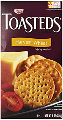 Toasteds Crackers, Wheat, 8-Ounce Boxes (Pack of 6)