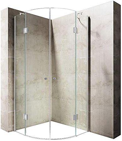 durovin baños Ravenna 2 con bisagras de cristal 8 mm de grosor sin marco ducha almacenaje transparente puerta sólo fácil de limpiar, Sin plato de ducha, gracias (No Shower Tray Thanks), transparente,