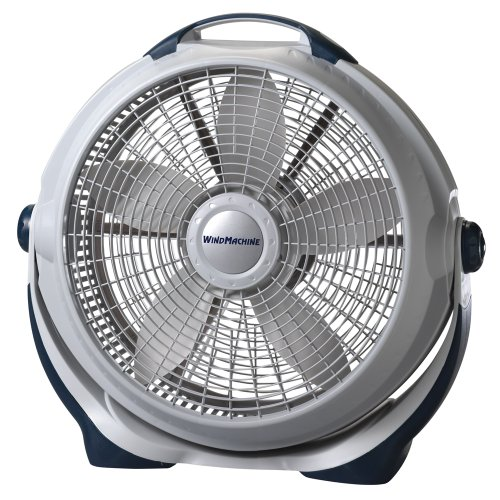 (Lasko 3300 20″ Wind Machine Fan With 3 Energy-Efficient Speeds - Features Pivoting Head for Directional Air Flow)