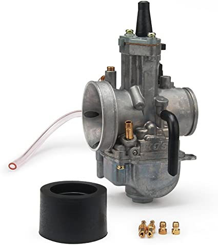 C12 34mm PWK Flatslide Power Jet Carb for 50cc 150cc KOSO OKO MOPED SCOOTER PIT