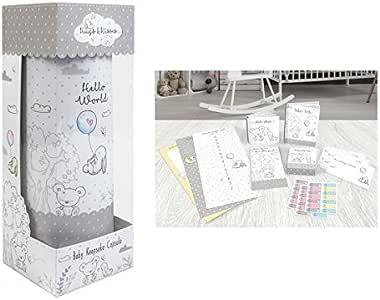 Hugs & Kisses - Caja de Almacenamiento de Recuerdos de Metal para bebé: Amazon.es: Hogar
