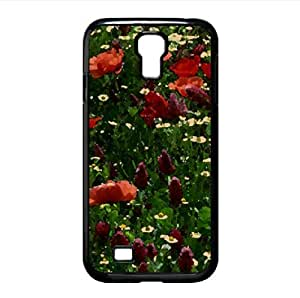Field Of Flowers Watercolor style Cover Samsung Galaxy S4 I9500 Case (Flowers Watercolor style Cover Samsung Galaxy S4 I9500 Case) by icecream design