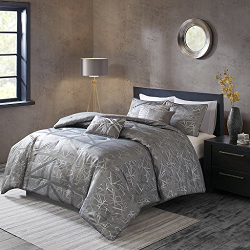 Dante 7 Piece Comforter Set Grey Queen