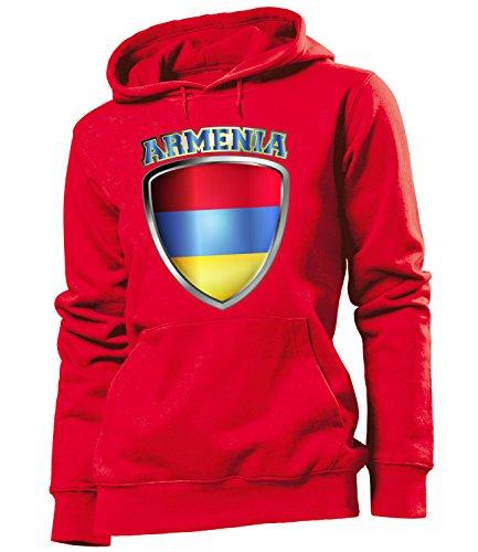 Copa del Mundo de fútbol - Campeonato de Europa de Fútbol - ARMENIA FAN mujer Capucha Tamaño S to XXL varios colores S-XXL Rojo