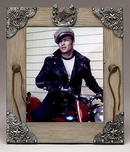 Marlon Brando In Wild movie And His Motorcycle Old West Barn