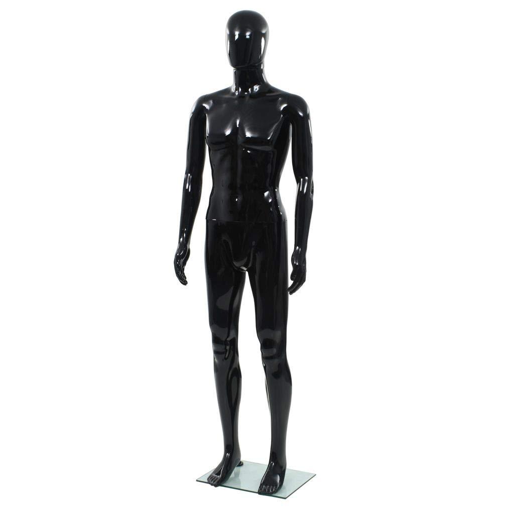 vidaXL Manichino Donna Figura Intera Base in Vetro 175cm Bianco Lucido