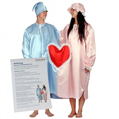 Partyspiel Schlafwandler Paar Doppeltes Nachthemd Fur Ehepaar Kostum