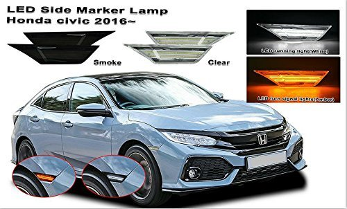 MaxBeam 2016+ Honda Civic LED Side Marker Lamps (2016, 2017, 2018) (Clear)