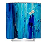 Pixels Shower Curtain (74'' x 71'') ''Never Alone By Sharon Cummings''