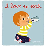 I Love to Eat: Deluxe Touch-and-Feel (Spanish and French Edition)