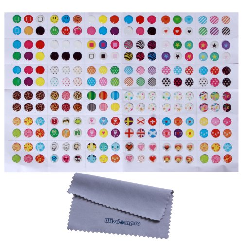 Home Button Stickers! 216 choices! Polka Dots, Colorful Bubbles, Emojis! Fit Apple iPhone 4s, 5/5c/5s, 6/6 Plus, SE, iPod Touch 4, 5, 6, iPad 3, 4, Mini 2, 3 & Air 2 by Wisdompro (Pattern 1)