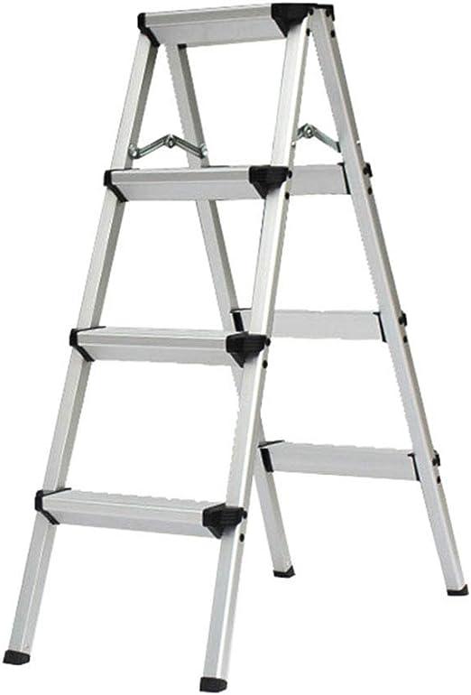 Escalera Taburete 4 Pasos Plegable Aluminio Resistente de Acero ...