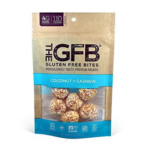 The GFB Gluten Free, Non GMO High Protein Bites, Coconut Cashew Crunch, 4 Ounce (Gluten Free Non Snacks Gmo)