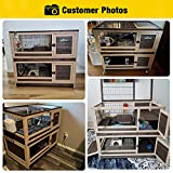 Rabbit Hutch Indoor and Outdoor Bunny Cage on
