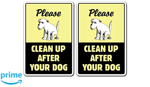 Chalk Banner Window Cling CGSignLab No Dog Pooping 5-Pack 36x24
