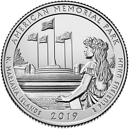 (2019 P, D, S 3 Bankrolls of 40 - American Memorial Park, NMI Quarter Uncirculated )
