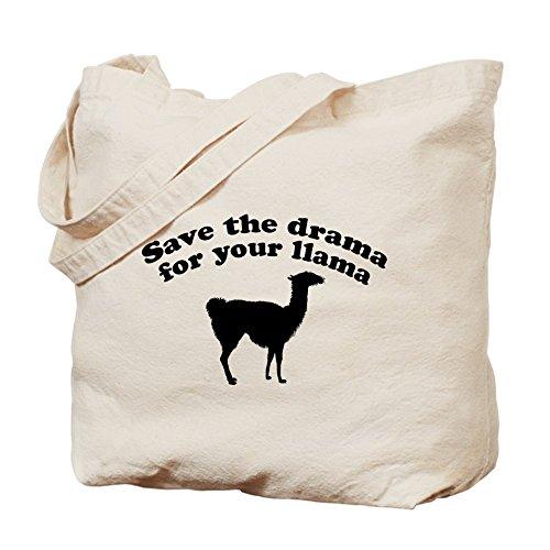 Cafepress–Save the Drama for your Llama–Borsa di tela naturale, tessuto in iuta