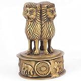 IndianShelf Handmade Decorative Bronze Multicolor Ashoka Emblem Online