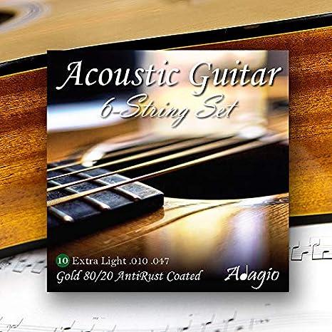 Adagio juego de cuerdas para guitarra acústica Premium (10 ...