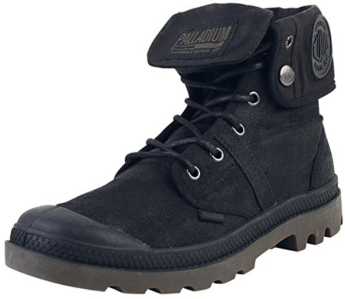 Palladium Pallabrouse BGY Wax, Stivali Arricciati Unisex – Adulto Nero (Black/Dark Gum 615)